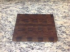 Black Walnut Butcher Block Cutting Board New End Grain 9 X 12
