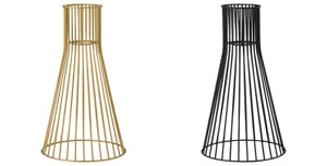 *New* KVADRATUR Pendant lamp shade, Black & Brass Gold Color  18 cm *Brand IKEA*