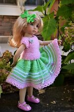 "Dianna Effner 13"" Little Darling Hand Knit 2pc OUTFIT for Summer Wear"