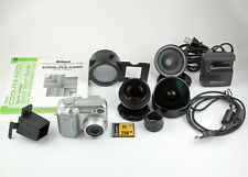197951 Nikon Coolpix 4300 4MP Dig. Camera w/3 Aux. Lenses, Slide Copier, & More!