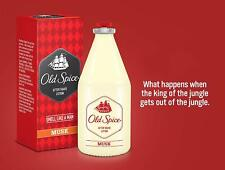 Old Spice After Shave Lotion MUSK-100ml(PACK OF 2) For Men Fragrance- Free Ship