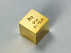Solid GOLD density cube 24K ultra precision 10x10x10mm - 19.4 grams