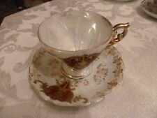 Vintage Royal Sealy  Cup And Saucer  Made in Japan Lots of gold trim