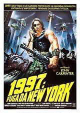 1997 FUGA DA NEW YORK ESCAPE FROM MANIFESTO JOHN CARPENTER KURT RUSSELL