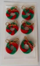 * Ganga * Verde/Rojo Navidad Coronas Adornos Para Tarjetas & Crafts-Ganga 99P