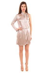 RRP €650 VERSACE COLLECTION Cocktail Dress Size 44 L Metallic Wrap Made in Italy