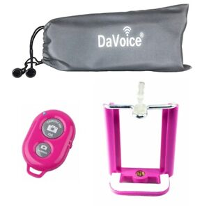 For Tripod, Cell Phone Tripod Adapter, Bluetooth Remote Control, Travel Bag Pink