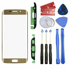 Gold Screen Front Glass Lens OEM Replacement For Samsung Galaxy S7 Edge G935