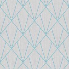 INDRA GEOMETRIC WALLPAPER TURQUOISE / GREY - MURIVA 154103