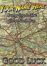 Great North Run Good Luck Card PIDX24  A5 Personalised Greeting Card ANY RUN