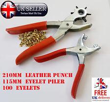 6 Taglie Cintura in pelle girevole PINZATRICE PINZA & Occhielli Pinza Craft Strumento