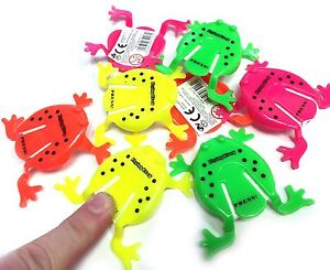 1 6 12 24 JUMPING FROG TIDDLYWINKS TOY PARTY BAG CHRISTMAS STOCKING FILLERS