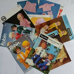Vintage baby doll knitting patterns Robin Wendy Sirdar - Tiny Tears, First Love