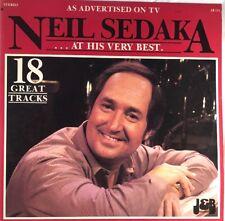 """Neil Sedaka - Neil Sedaka At His Very Best 12"""" Vinyl LP in VG+ Condition"""