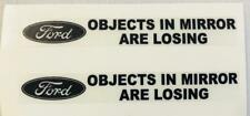 "FORD ""Objects In Mirror Are Losing""  Clear Decals For Mirrors, 1-Pair"