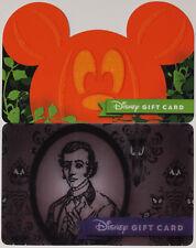 Both Disneyland Halloween Gift Cards 2017: Haunted Mansion and Die Cut Pumpkin
