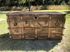 Antique Pirate Chest - Authentic Belber Trunk With Original Shelves
