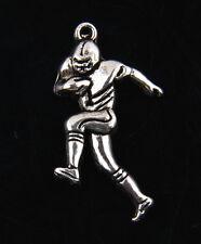 25pcs Tibetan Silver Football players Pendants for Jewelry Making ABF248