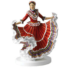 Royal Doulton Dances of the World Mexican Hat Dance Figurine Hn 5643 Hand Signed