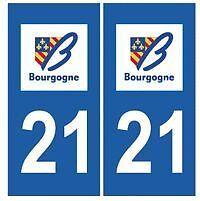 stickers autocollants plaques immatriculation auto Département Côte-d'Or 21