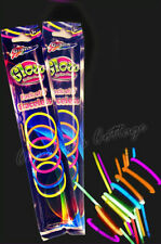 "10 x 8"" MIXED COLOUR GLOW STICKS LIGHT BRACELETS 4 RAVE PARTY FESTIVALS"