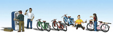 Free Shipping! HO Scale Woodland Scenics Bicycle Buddies Model Train Layout 1904