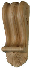 Reeded Corbel with Fan (Pair)  Hand Carved in ASH Wood (#739)