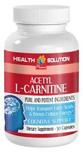 Acetyl L-CARNITINE - Boosts Cellular Energy - Transports Fatty Acids - 1 Bottle