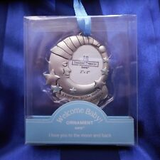 "New Baby Boy Keepsake Ornament/Car Charm, ""Love you to the Moon and Back"" (Ganz)"