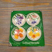 Vintage Lillian Vernon 4570 Fridge Refrigerator Floral Flower Magnets NEW NIP
