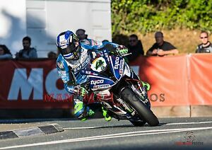 Ian Hutchinson 2017 Superbike  Isle of Man TT A4 size photo