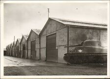 45 GIEN ?? RETIRAGE PHOTO GRAND FORMAT CASERNE ARTILLERIE ?? CHAR TANK