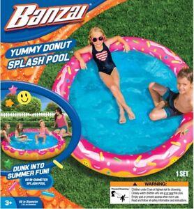 Banzai Kids inflatable Yummy Donut Splash Pool Brand new
