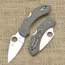 "Spyderco Dragonfly Folding Pocket Knife 2.28"" VG10 Steel Blade Green G10 Handle"