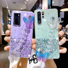 Bling Glitter Butterfly Case for Samsung Galaxy Note 20 Ultra S20 S10 A71 A21 S9