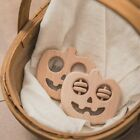 1pc+Wooden+cute+Halloween+themed+pacifier+baby+teether+rattle+toy