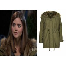 Topshop Faux Fur Trimmed Parka Jacket Clara Oswald Cosplay Doctor Who Winter