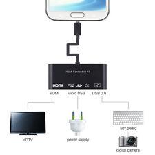 MHL HDMI HDTV + MICRO SD CARD + ADATTATORE DI CARICA + OTG Convertitore da per Samsung Galaxy