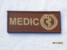 Medic, medical unit ID Patch, de velcro, marrón