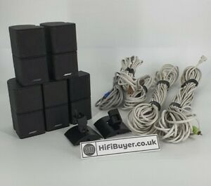 Bose x5 Lifestyle Jewel Cube Speakers with Wall Brackets and Cables - Full Set