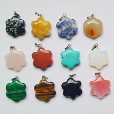 Wholesale 12pcs/lot  Fashion Natural Stone Mixed Plum flower Charms Pendants