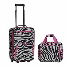2 Piece Luggage Set Polyester - Pink Leopard New
