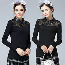 Lace Semi Fitted Blouses Floral Tops & Shirts for Women