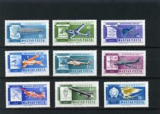 HONGRIE 1962 Sc#c210-c218 AVIATION Set of 9 TIMBRES MNH