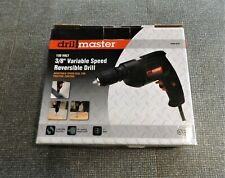 Drill Master 120V 3/8 Variable Speed Reversable Electric Drill, Keyless Chuck