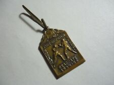 VINTAGE Boxing Pin Trophy Post Dispatch Boxing School 1934 - 1935 Metal Antique