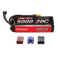 Venom LiPo Battery : Traxxas Stampede 1:10 RC 20C 11.1V 5000mAh 3S with UNI Plug