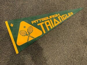 1973 PITTSBURGH TRIANGLES FULL SIZE RARE WORLD TEAM TENNIS PENNANT EX RARE