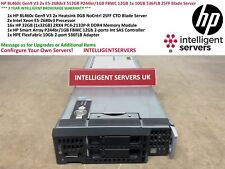 HP BL460c Gen9 V3 2x E5-2680v3 512GB P244br/1GB 12GB 1x 10GB 536FLB Blade Server