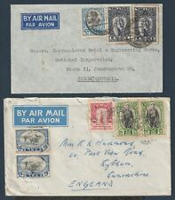 Thailand 1947, 1948 two nice Air Mail, to Czech. and to England